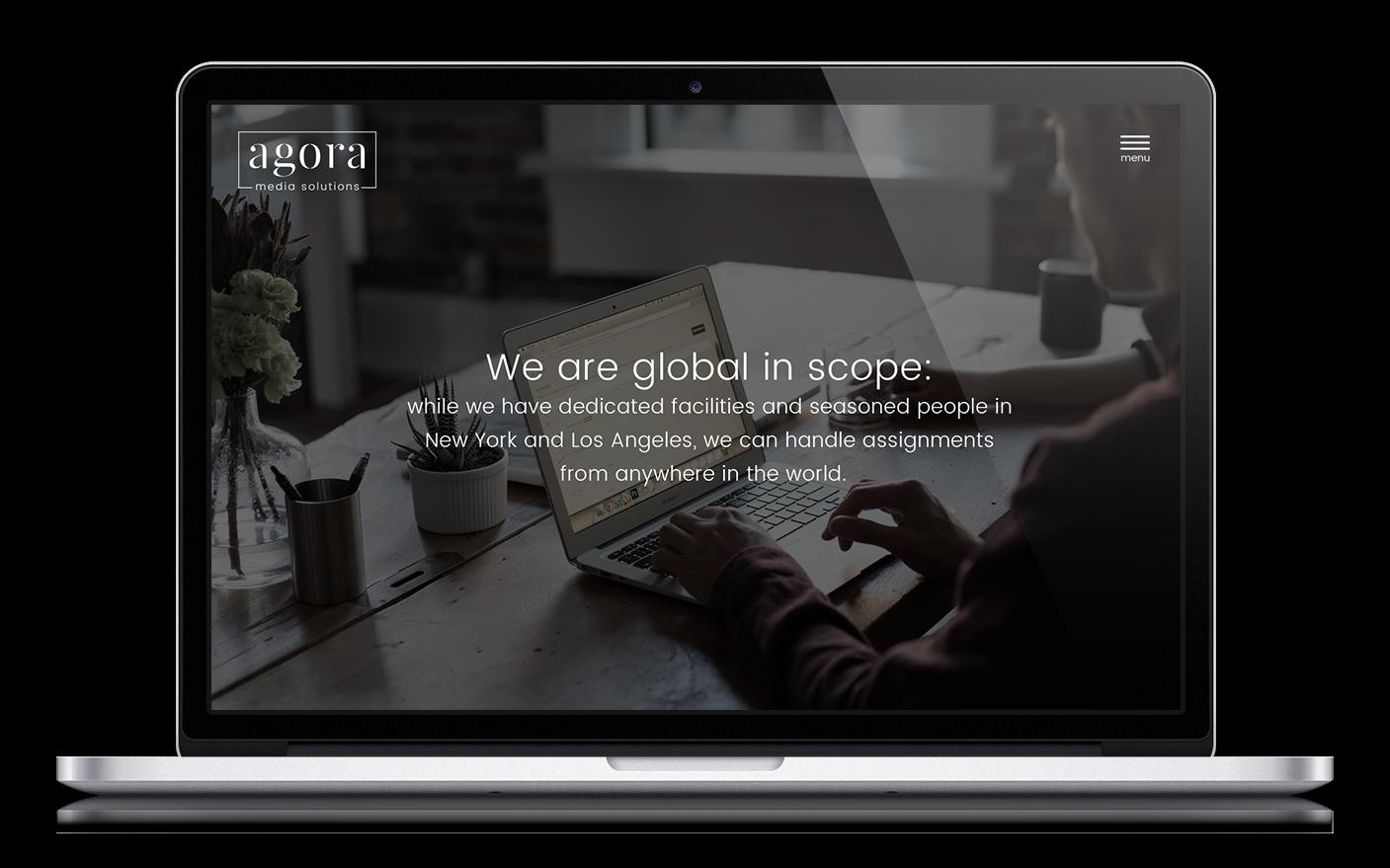 Agora Media Solutions Logo - Website Design Company in