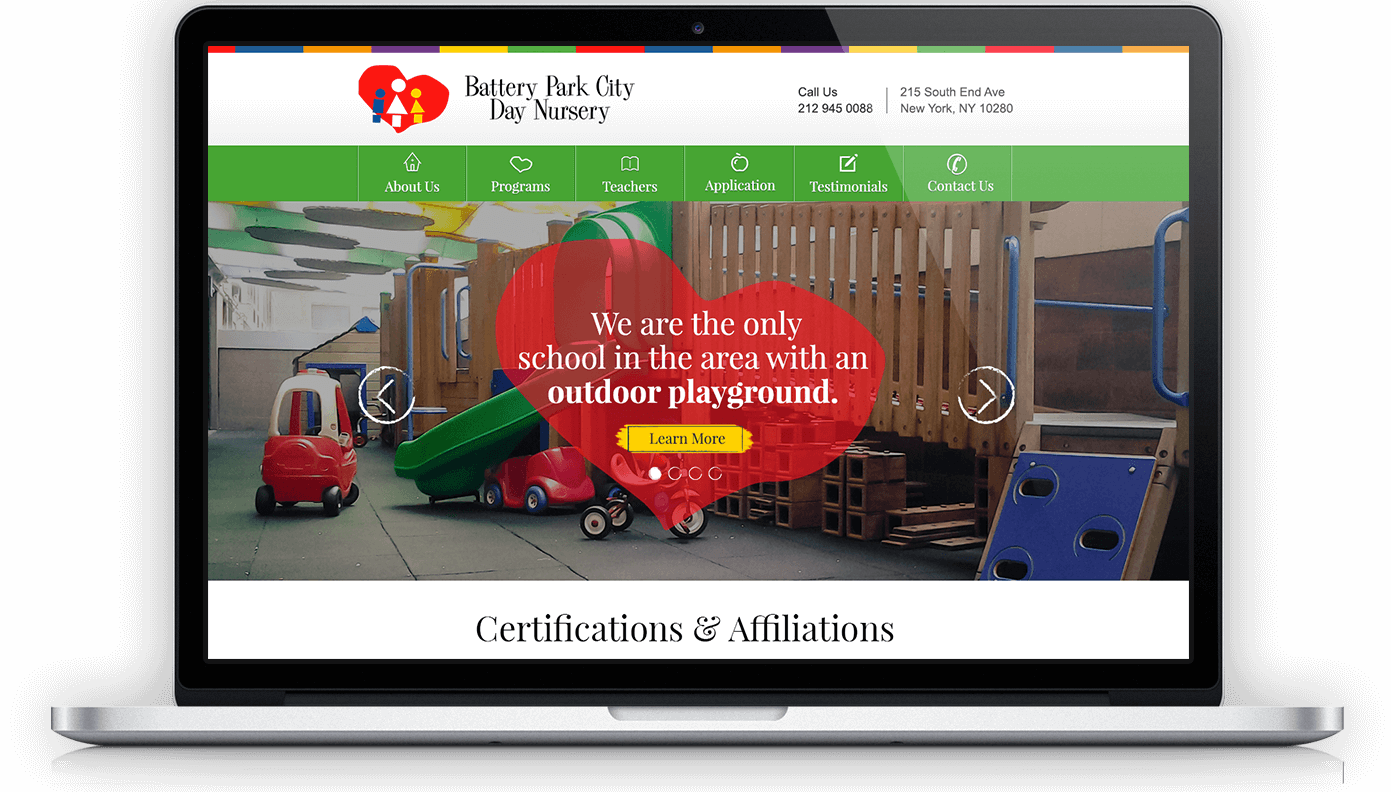 Battery Park City Day Nursery homepage