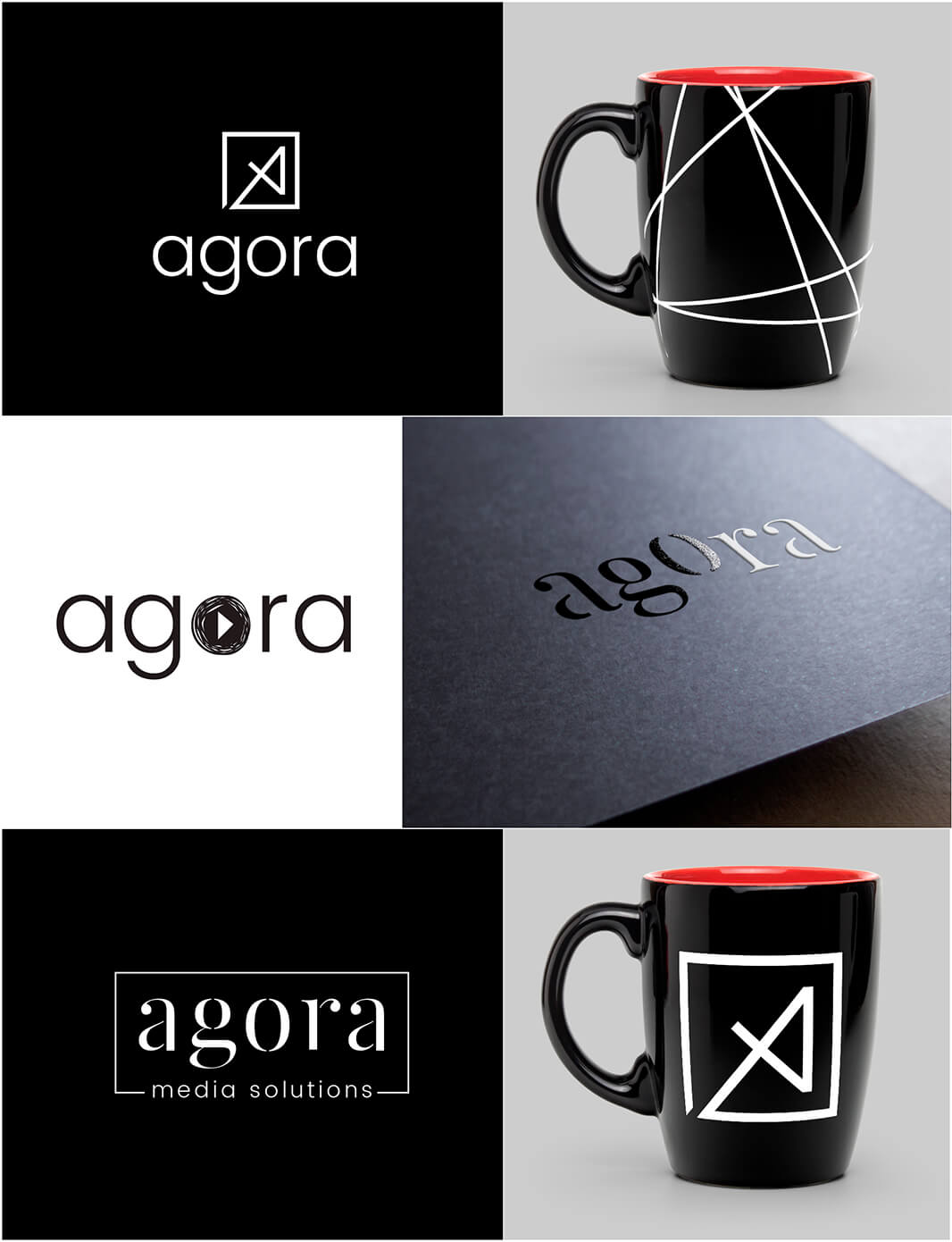 Agora Media Solutions logo variations