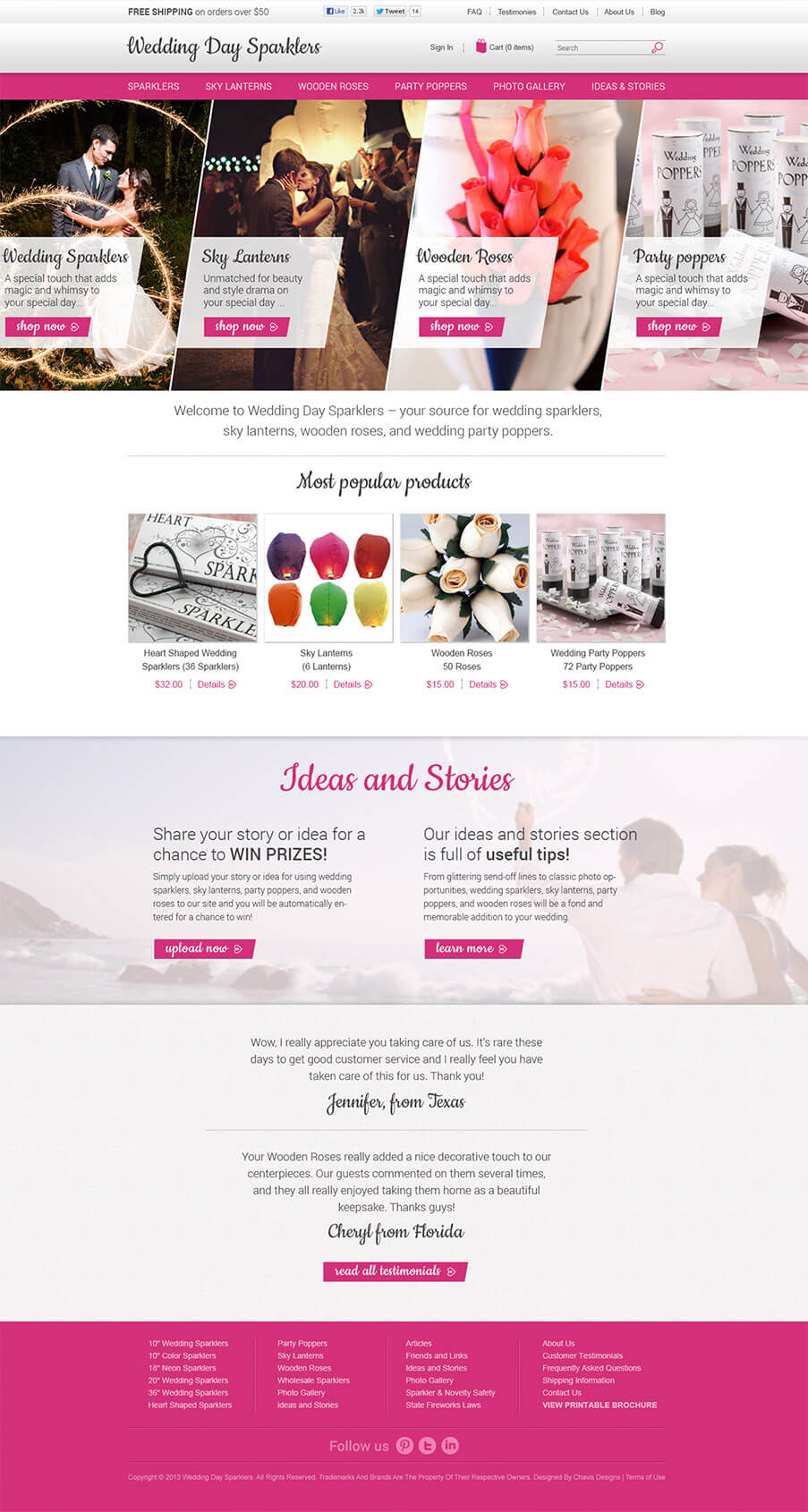 Wedding Sparklers Homepage